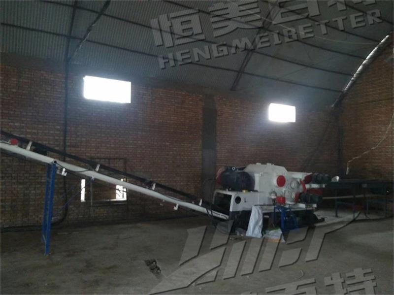 陕西时产2.5-3吨木屑颗粒生产线安装调试完毕!