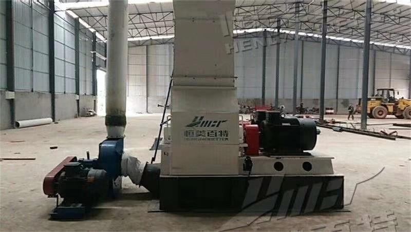 四川乐山时产3-4吨生物质颗粒生产线安装现场